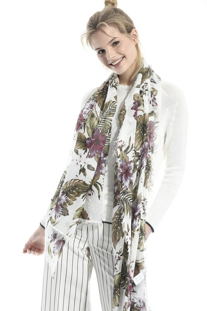 Floral print scarf Intrend