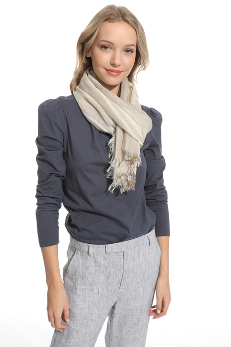 Light striped scarf Diffusione Tessile