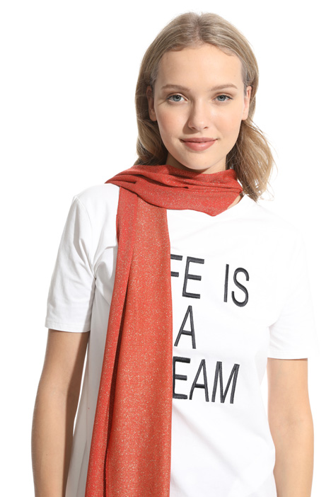 Viscose and lurex scarf Diffusione Tessile