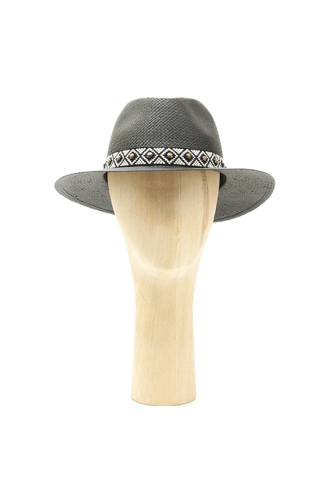 Jacquard trim hat Intrend