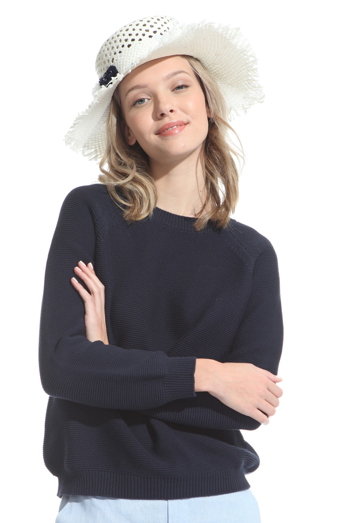 Fringed trim hat Intrend