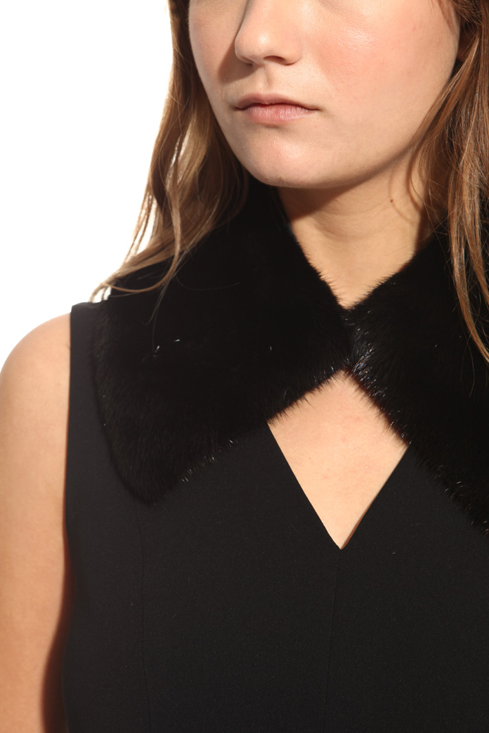 Real mink collar Intrend