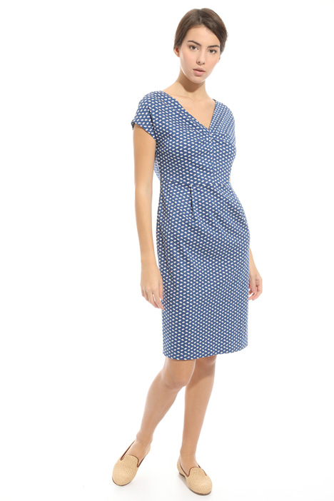 Printed jersey sheath dress Diffusione Tessile