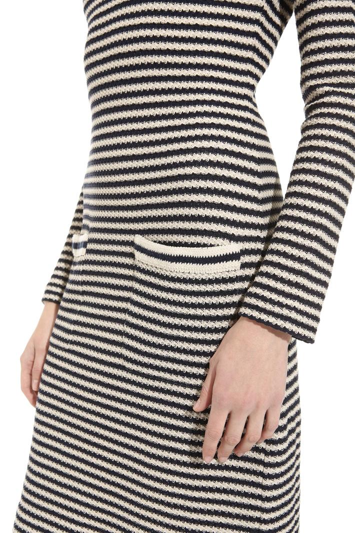 Jacquard knit dress Intrend