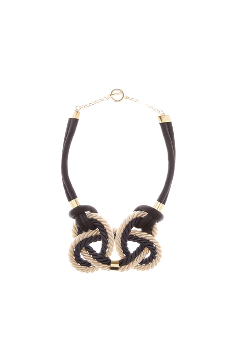 Two-tone braided necklace Diffusione Tessile