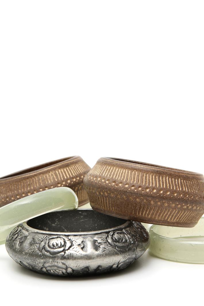 Set of rigid bracelets Intrend