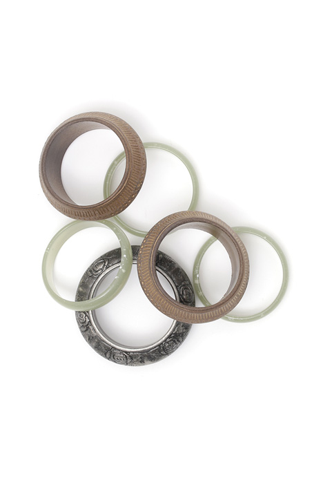Set of rigid bracelets Diffusione Tessile