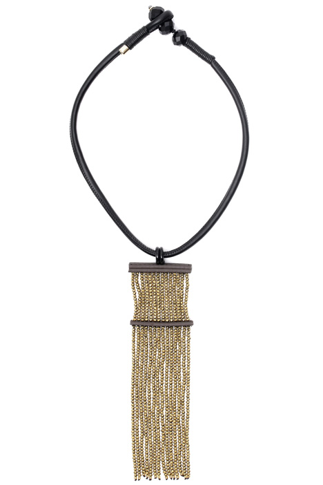 Necklace with maxi fringe Diffusione Tessile