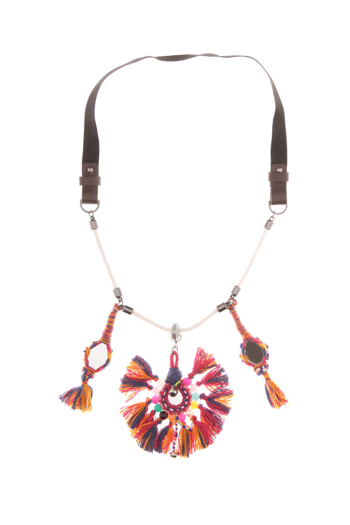 Fringe and mirror necklace Diffusione Tessile