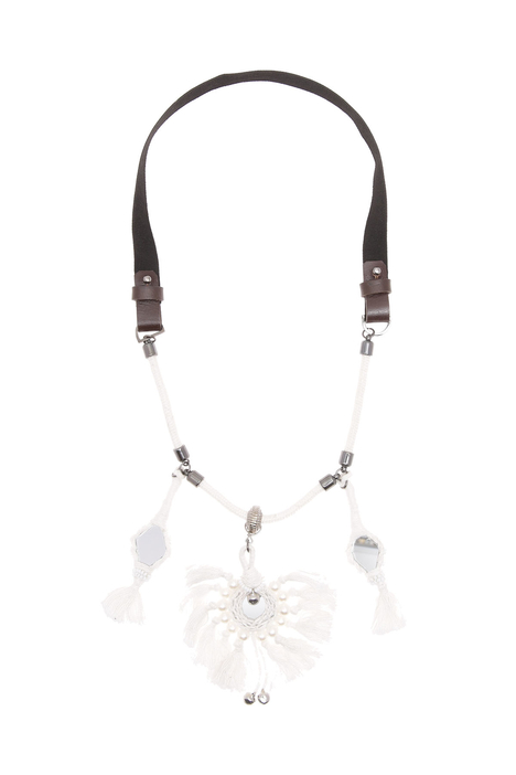 Fringe and mirror necklace Intrend