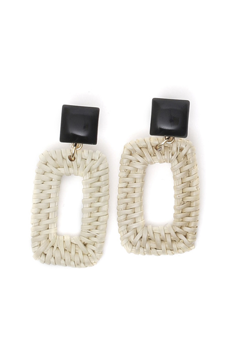 Raffia pendant earrings Diffusione Tessile