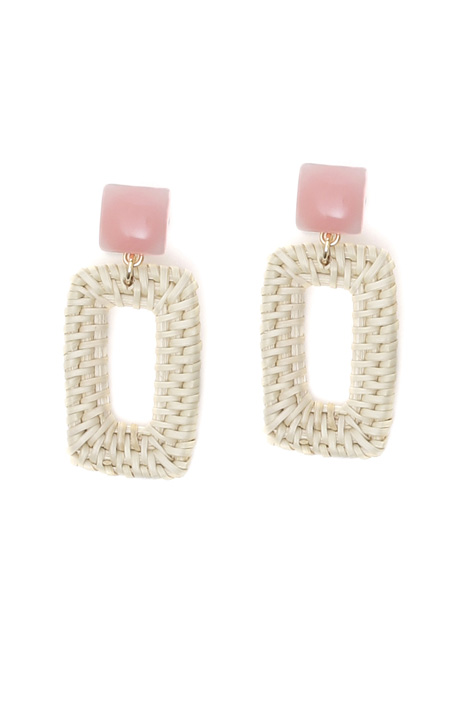 Raffia pendant earrings Intrend