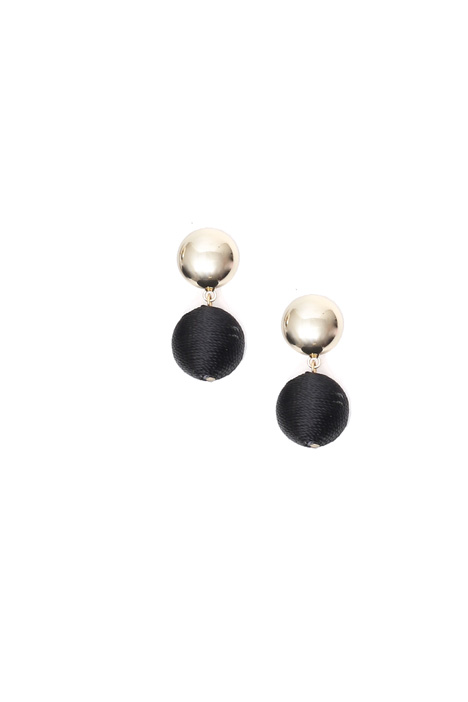 Covered sphere earrings Diffusione Tessile