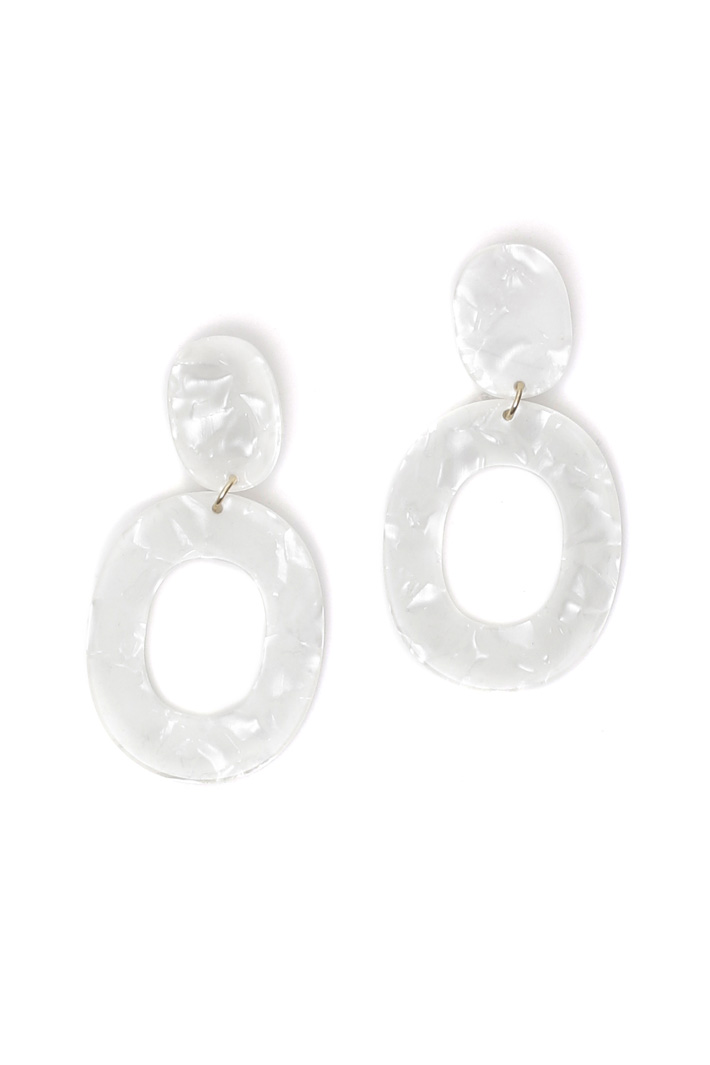 Resin drop earrings Intrend