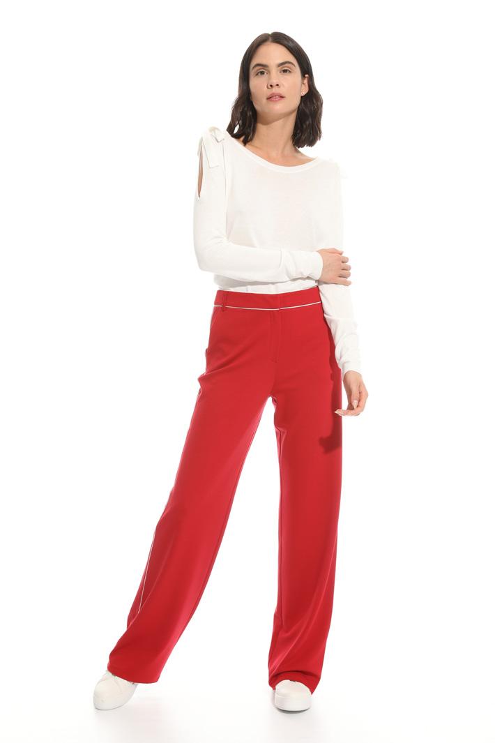 Pantalone in jersey di viscosa Intrend