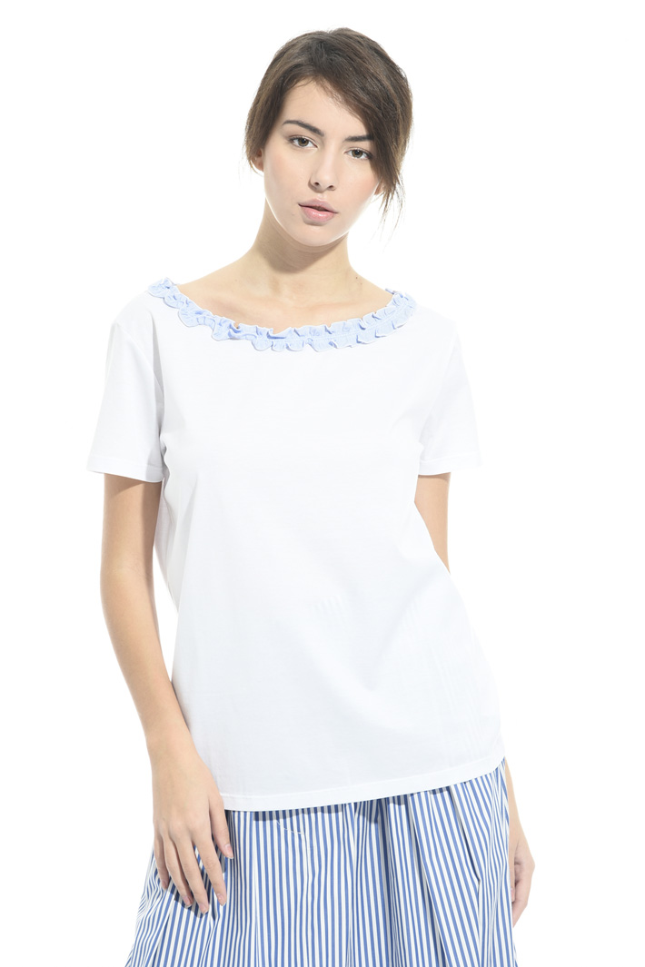 T-shirt con micro ruches Intrend