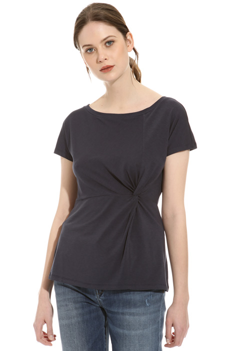 Jersey T-shirt with draping Intrend