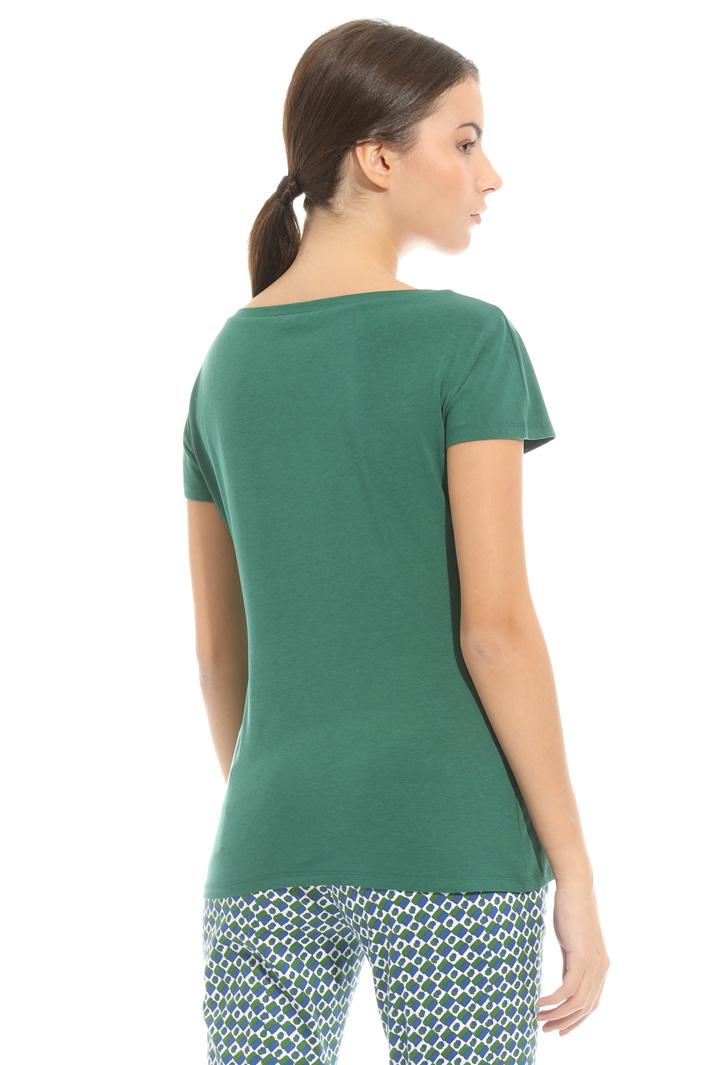 T-shirt in jersey con arriccio Intrend