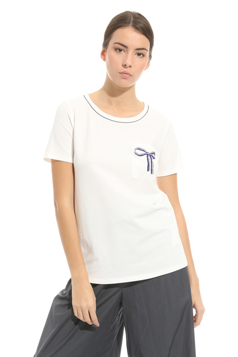 Embroidered pocket T-shirt Diffusione Tessile