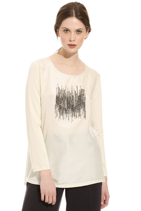 Embroidered silk sweater Intrend