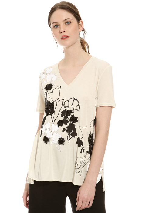 Bijou embroidered T-shirt Diffusione Tessile