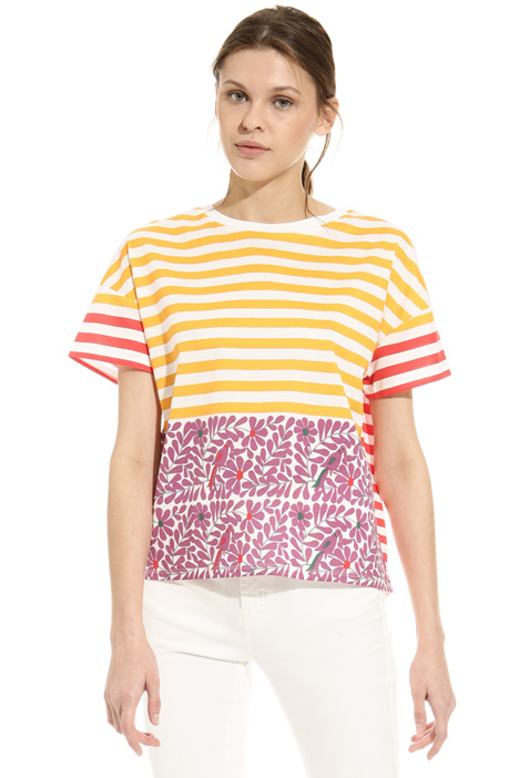 Printed cotton T-shirt Diffusione Tessile