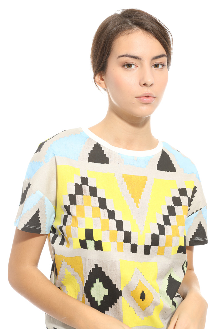 Printed cotton T-shirt Intrend