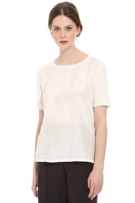 Cotton and silk T-shirt Diffusione Tessile