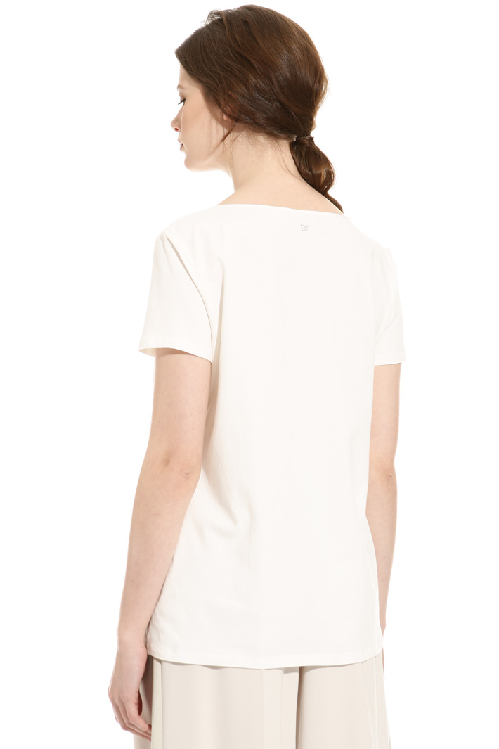 T-shirt in seta e cotone Intrend