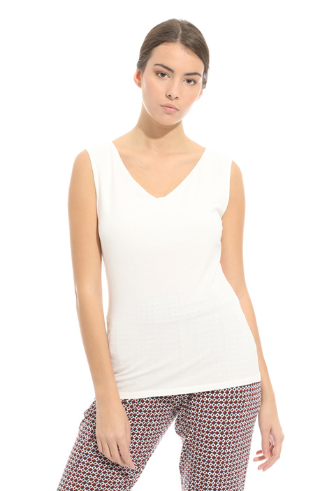 V-neck jersey top Intrend
