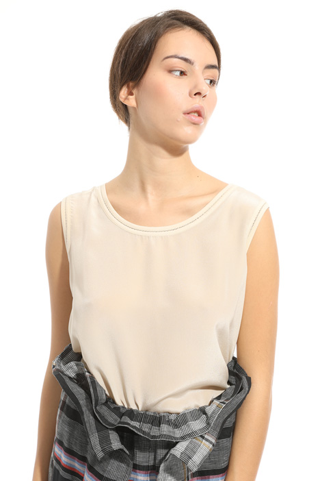 Sleeveless jersey top Intrend