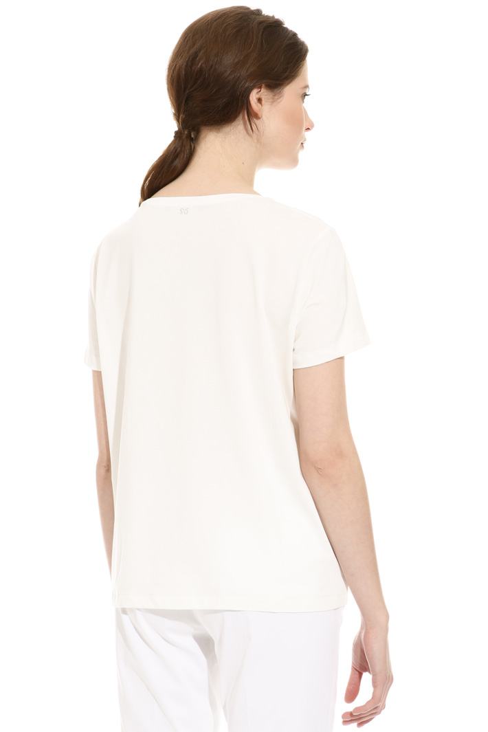 T-shirt con ricami in filo Intrend