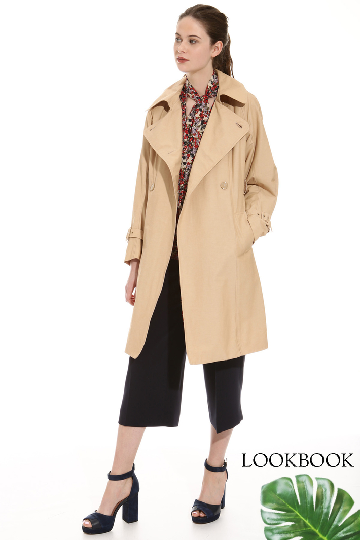 Wide sleeve trench Intrend