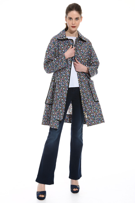 Printed interwoven topcoat Intrend