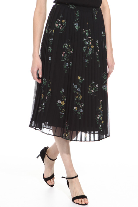 Pleated skirt with print  Intrend