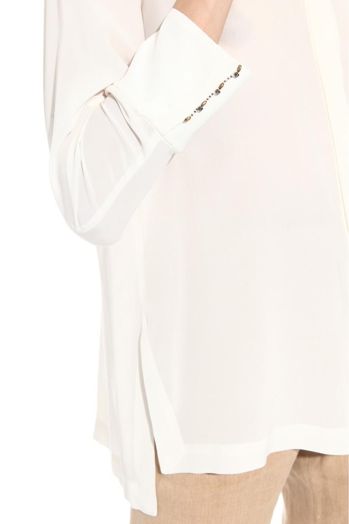 Camicia in seta con ricamo Intrend