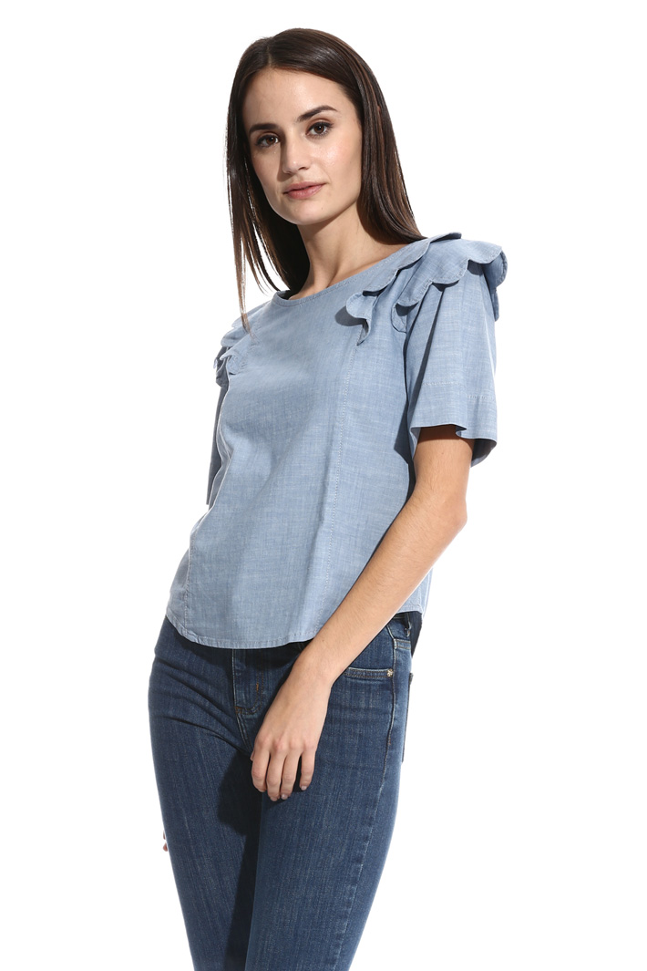 Cotton chambray top Intrend