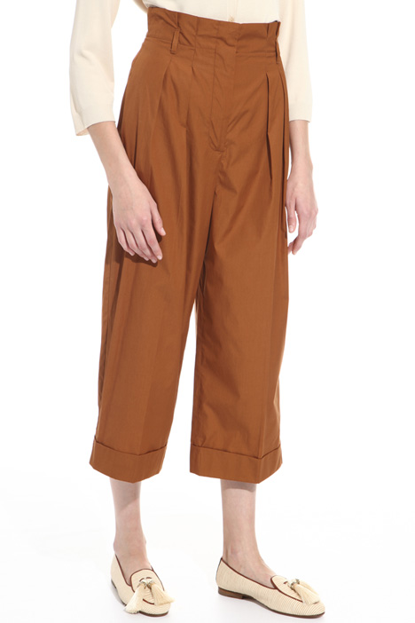 Cropped cotton trousers  Diffusione Tessile