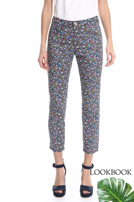 Fitted trousers with print Intrend