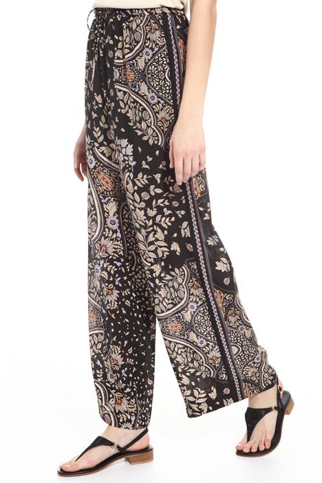 Pantalone in seta stampata Intrend