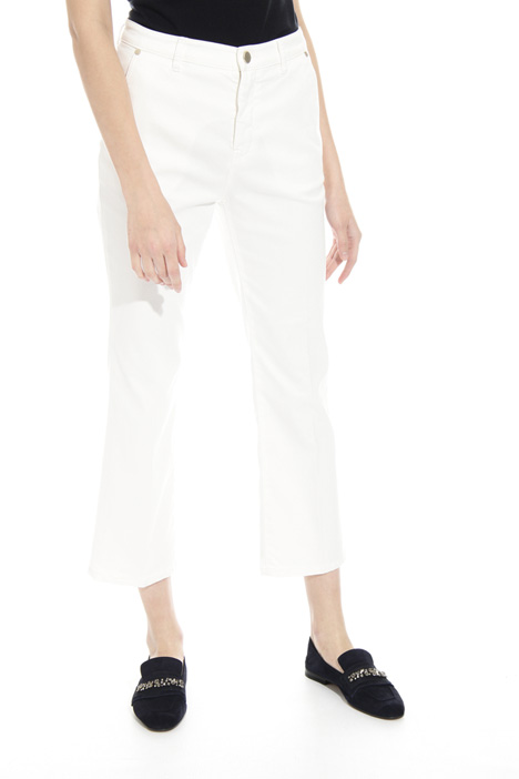 Flared drill trousers Intrend