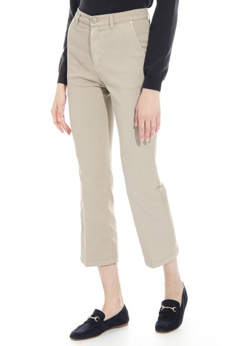 Pantalone flare in drill Diffusione Tessile