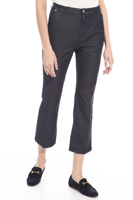 Flared drill trousers Diffusione Tessile