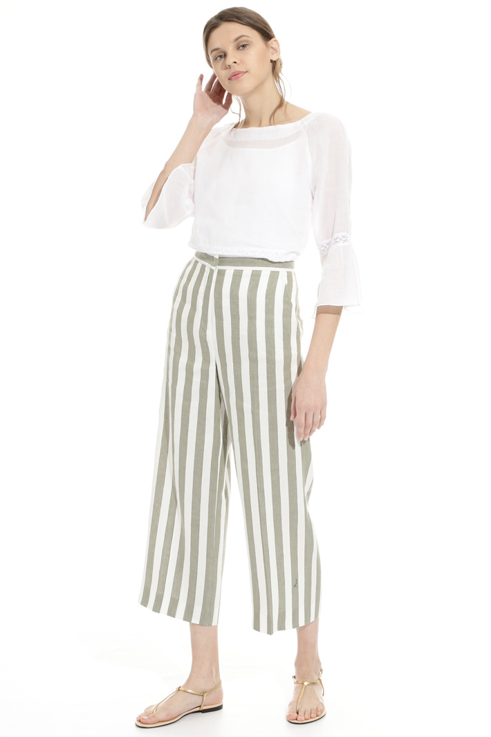 Striped linen trousers Intrend