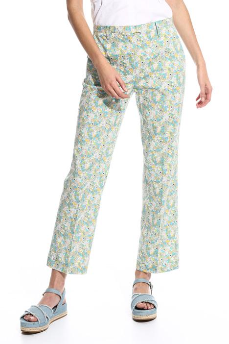 Straight leg poplin trousers Diffusione Tessile