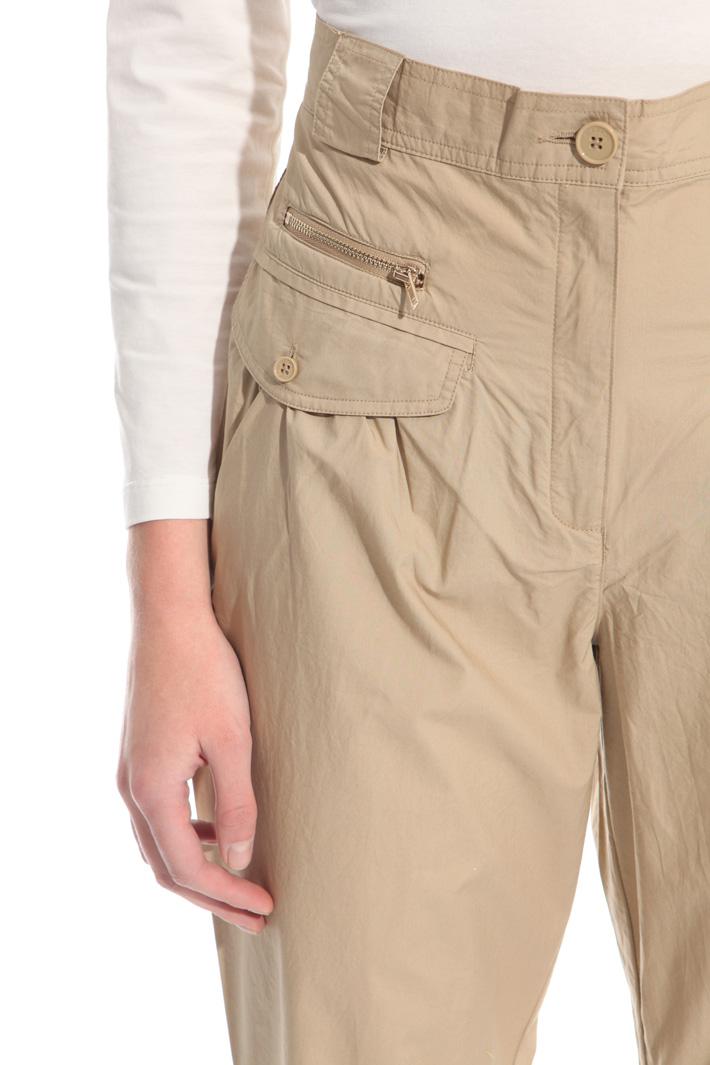 Poplin carrot trousers Intrend