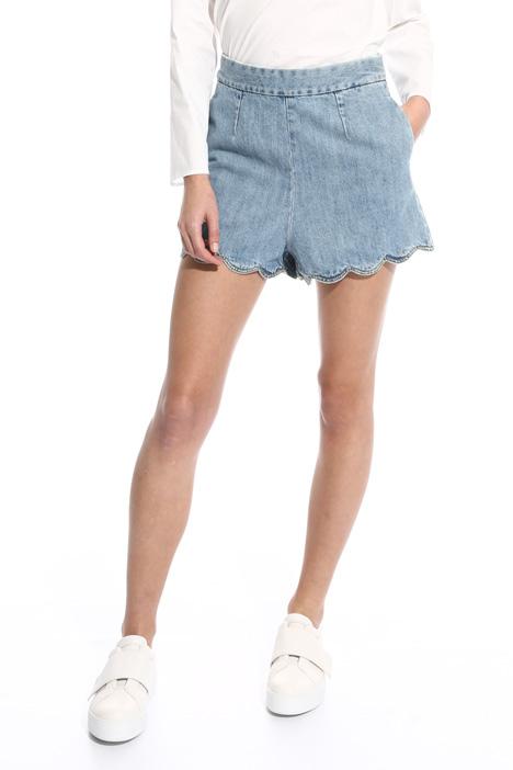 Shorts con fondo smerlato Diffusione Tessile