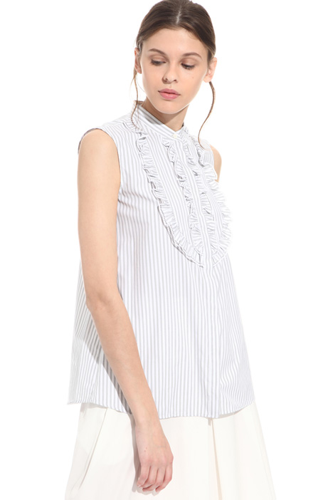 Frilled cotton shirt Intrend