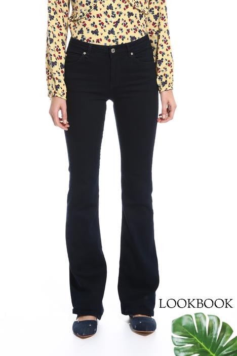 Pantalone a zampa in denim Diffusione Tessile