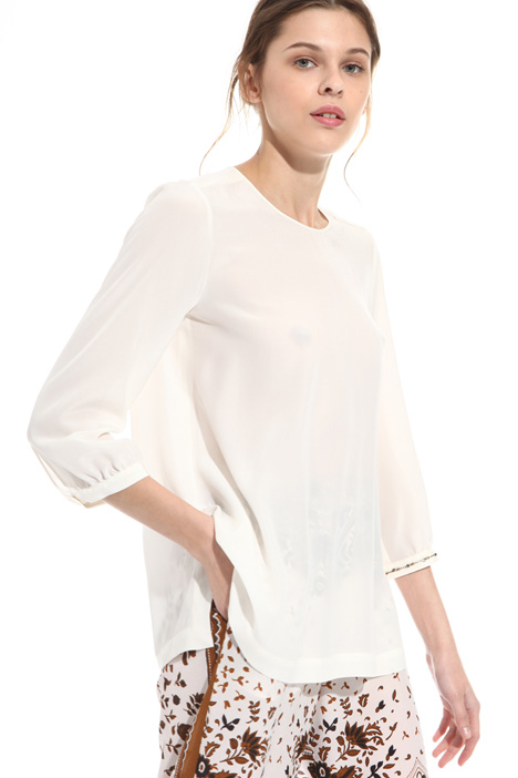Silk blouse with embroidery  Diffusione Tessile